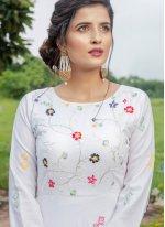 White Party Cotton Designer Gown