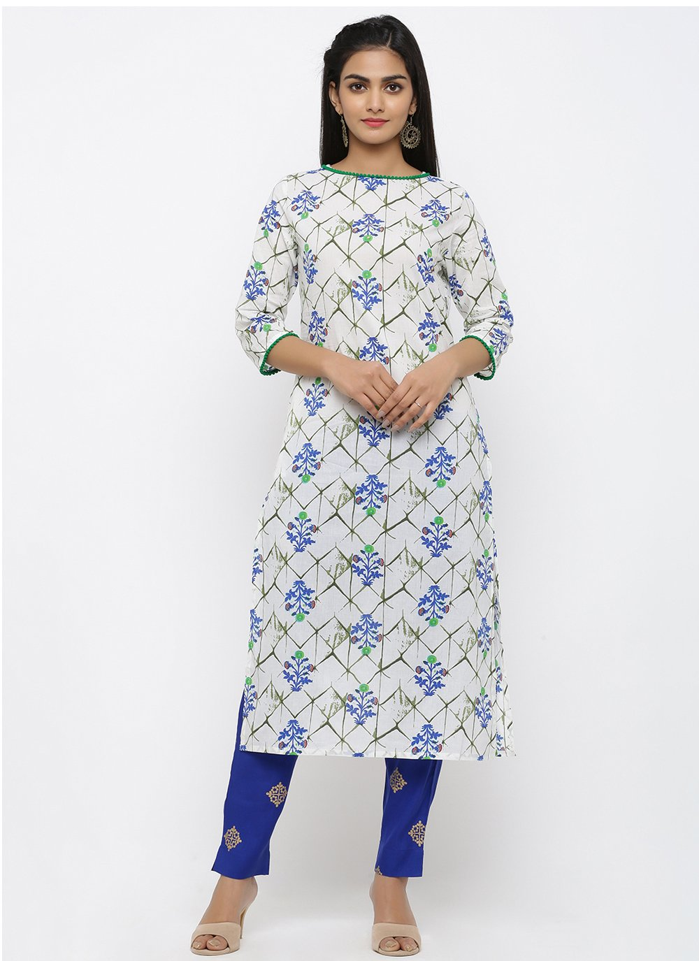 White Party Salwar Suit