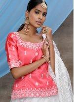 White Sequins Net Bollywood Lehenga Choli