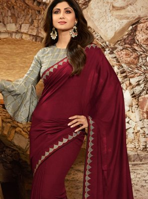Wine Festival Georgette Trendy Saree