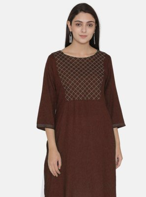 Wine Festival Rayon Party Wear Kurti