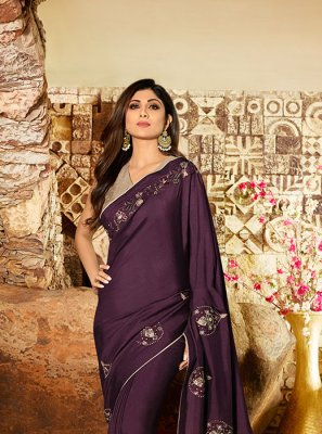 Wine Party Classic Saree