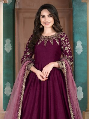 Wine Reception Anarkali Suit