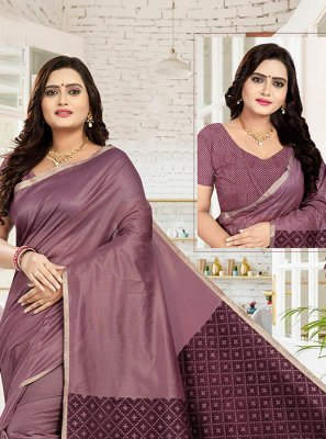 Wine Reception Cotton Designer Traditional Saree