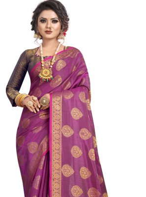 Wine Silk Classic Saree