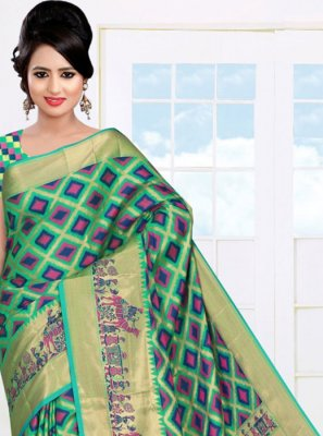 Woven Art Silk Casual Saree