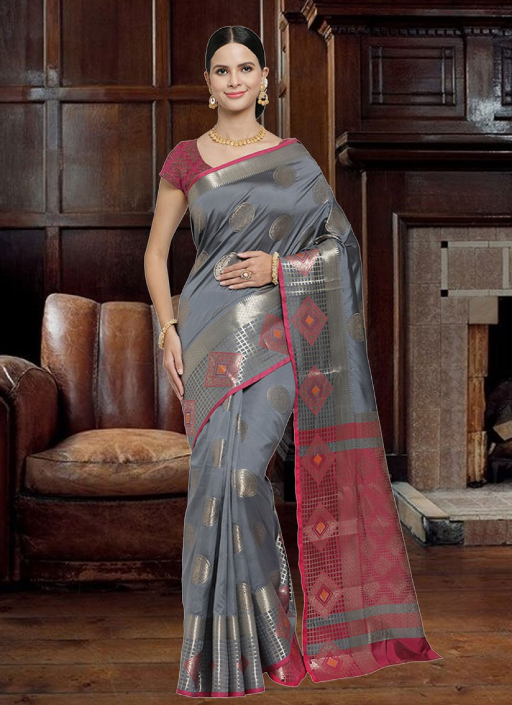 Woven Art Silk Designer Saree
