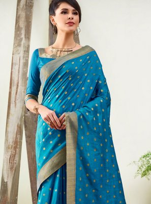 Woven Art Silk Designer Traditional Saree in Blue