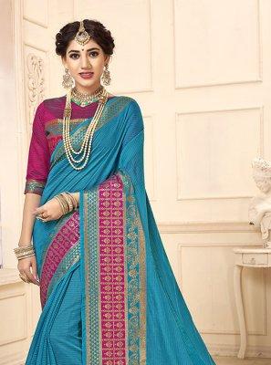 Woven Blue Casual Saree