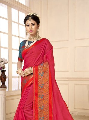 Woven Cotton Silk Casual Saree