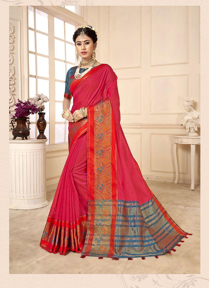 Woven Cotton Silk Casual Saree