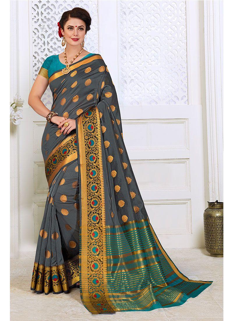 Woven Cotton Silk Traditional Designer Saree