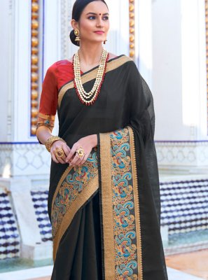 Woven Cotton Trendy Saree