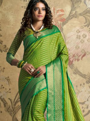 Woven Green Traditional Designer Saree