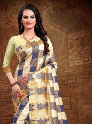 Woven Multi Colour Art Silk Designer Saree