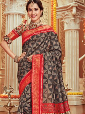 Woven Multi Colour Designer Traditional Saree