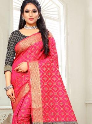 Woven Pink Designer Saree