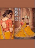 Yellow Border Classic Designer Saree