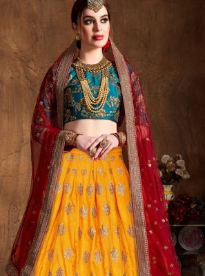 Yellow Bridal Lehenga Choli