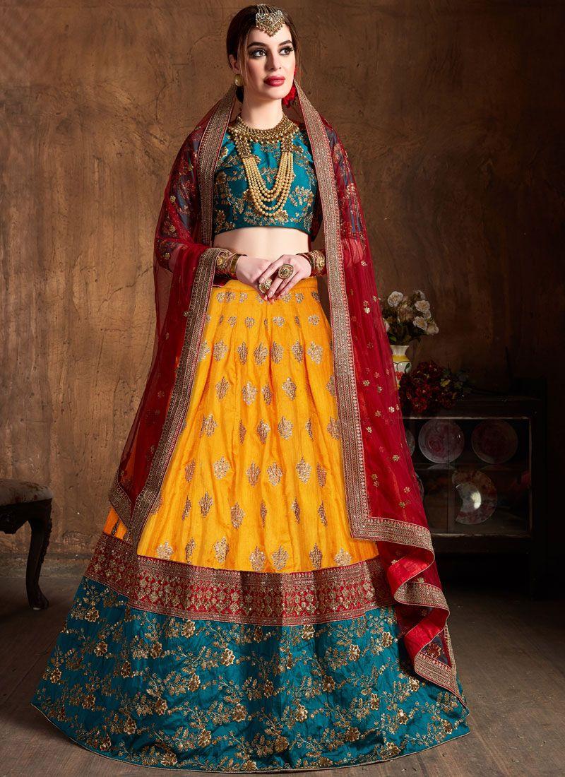 Yellow Bridal Lehenga Choli