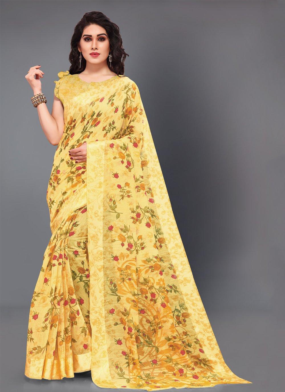 Yellow Classic Saree