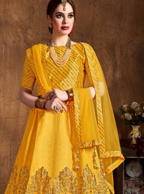 Yellow Color Lehenga Choli