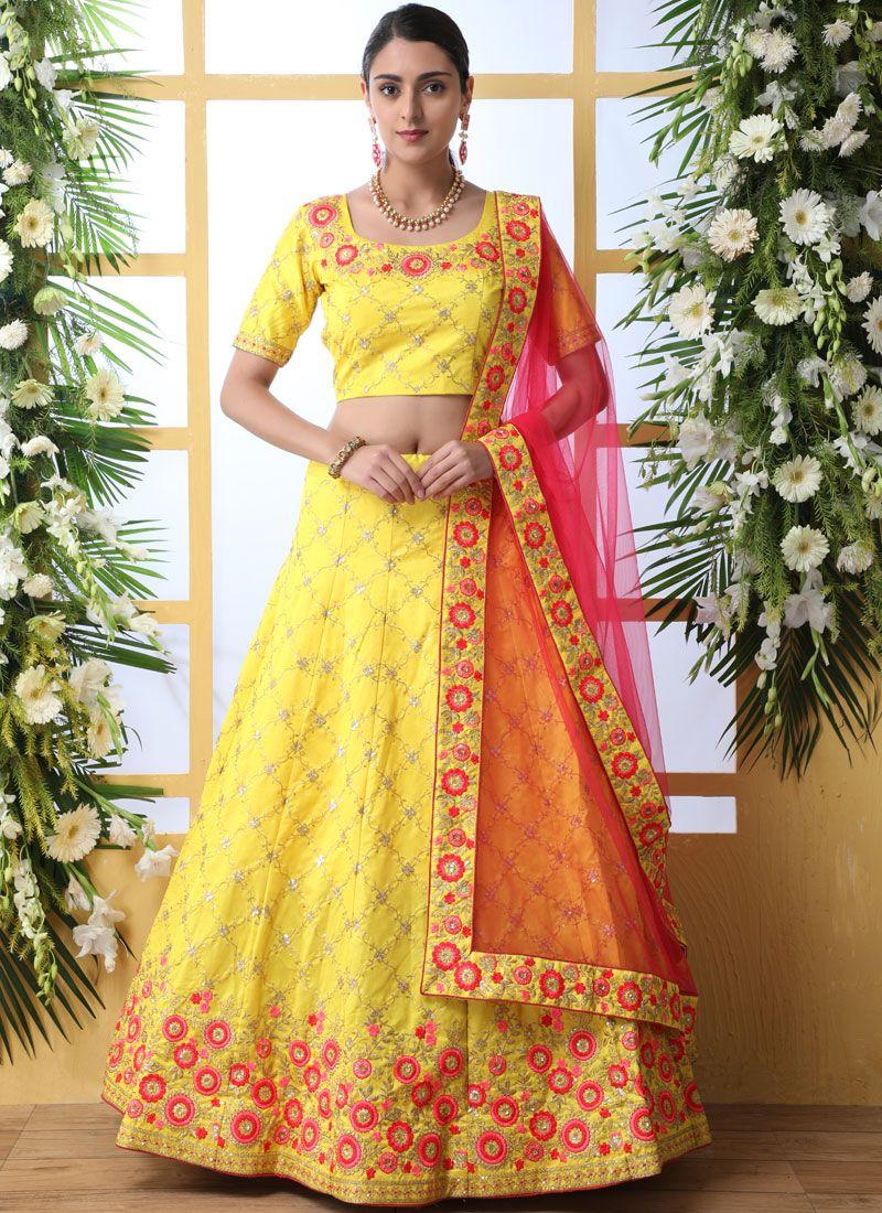 Yellow Color Lehenga Choli