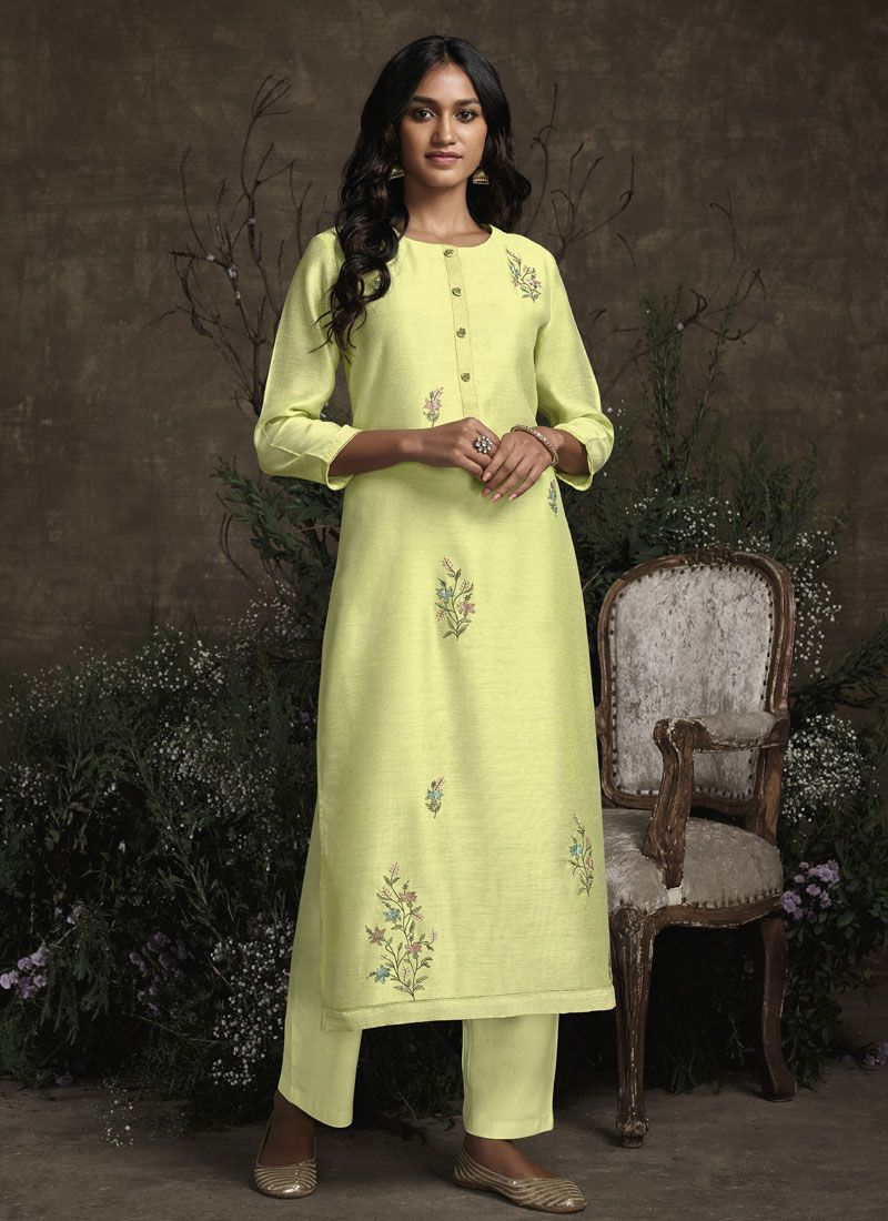 Yellow Color Pant Style Suit