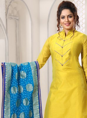Yellow Color Salwar Kameez