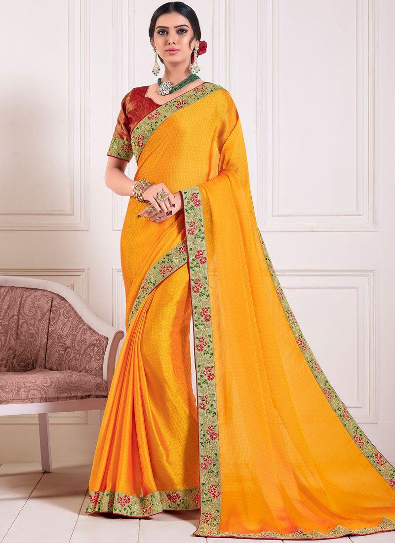 Yellow Color Silk Saree