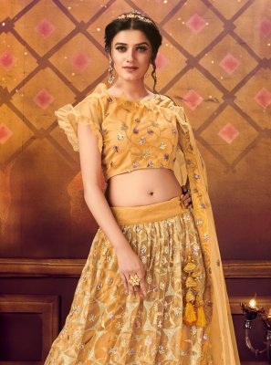 Yellow Color Trendy Lehenga Choli