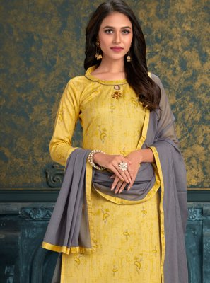 Yellow Designer Patiala Suit