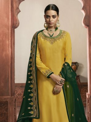 Yellow Embroidered Bollywood Lehenga Choli