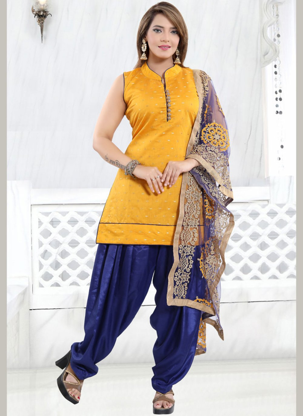 Yellow Fancy Designer Patiala Suit