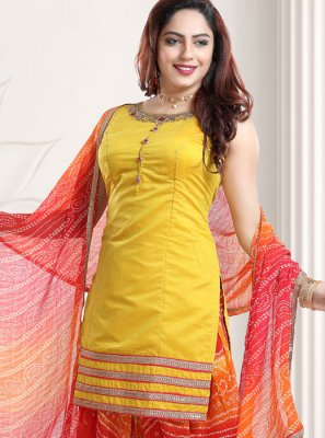 Yellow Festival Designer Patiala Suit