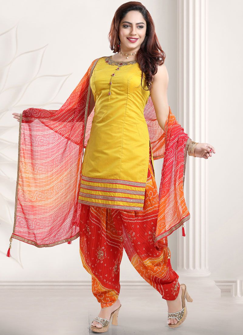 Yellow Festival Designer Patiala Suit