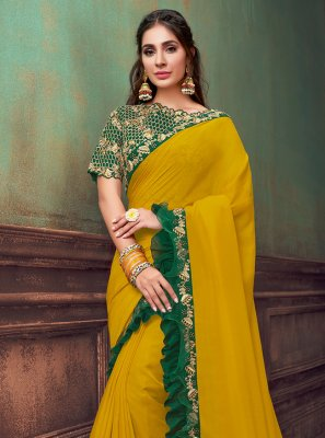 Yellow Festival Designer Saree