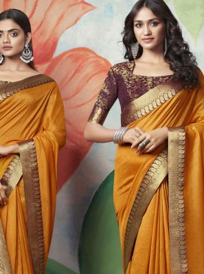 Yellow Festival Designer Traditional Saree