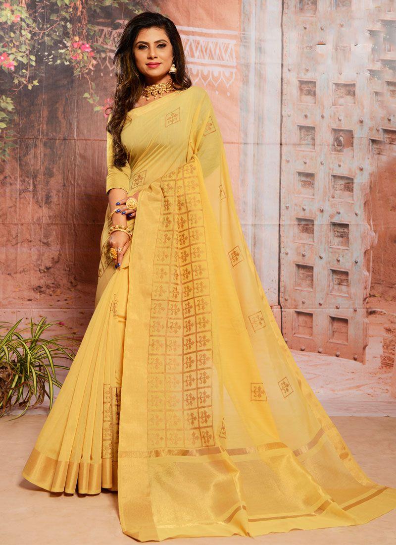 Yellow Festival Trendy Saree