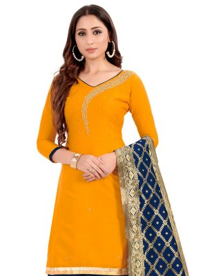 Yellow Handwork Salwar Kameez