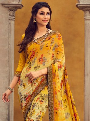 Yellow Lace Traditional Designer Saree