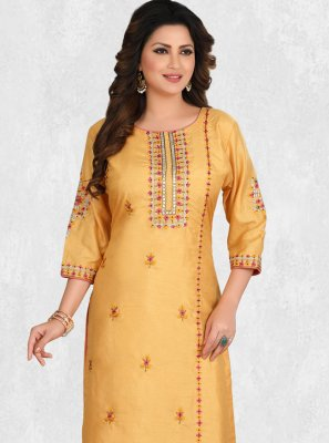 Yellow Party Designer Kurti