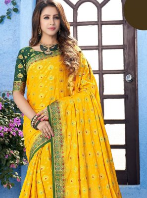 Yellow Party Designer Saree