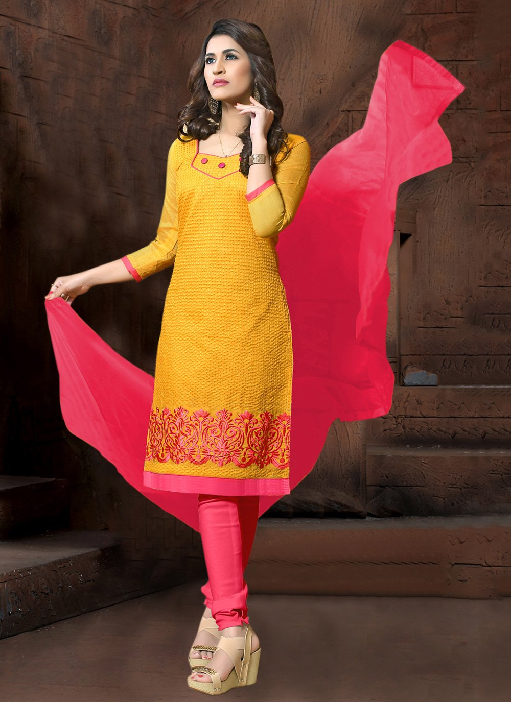 Yellow Party Salwar Suit