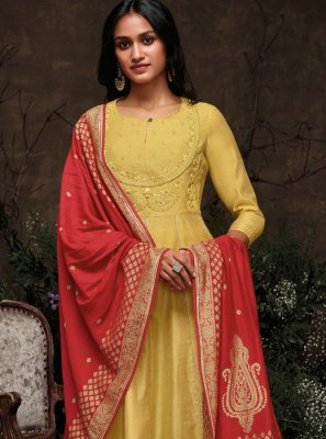 Yellow Party Trendy Pakistani Suit