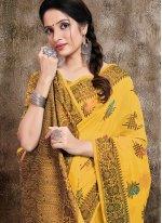 Yellow Party Trendy Saree