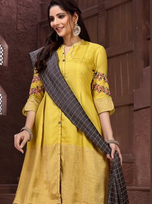 Yellow Reception Designer Salwar Suit