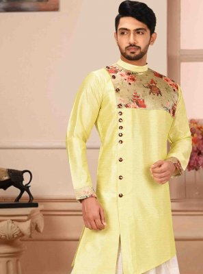 Yellow Reception Kurta Pyjama