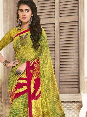 Yellow Reception Saree