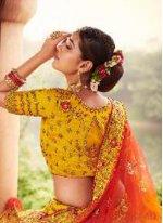 Yellow Resham Designer Lehenga Choli